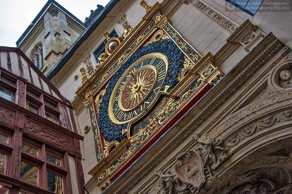 Rouen, ceasul astronomic Gros Horloge